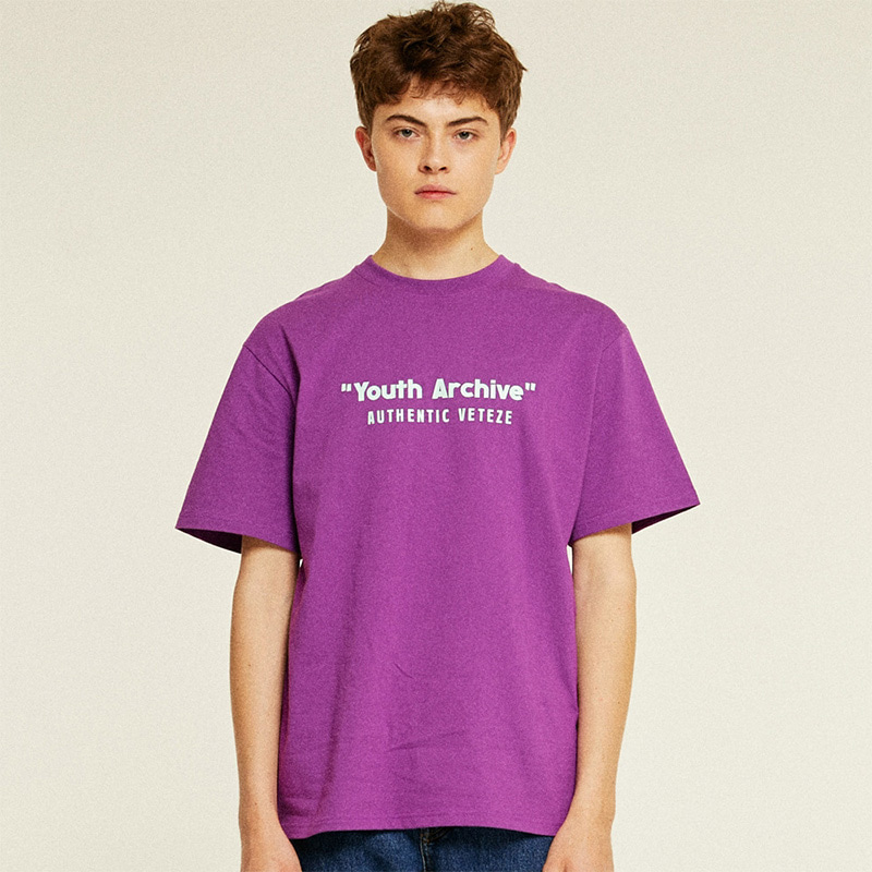 [TIME SALE]Youth Half T-Shirts (purple)