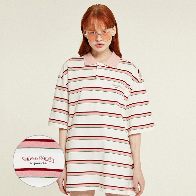 [Season Off] Studio PK Stripe T-Shirts (cream)