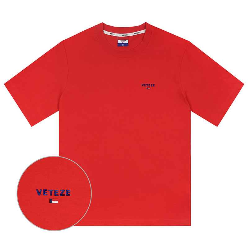 [Season Off] Basic Logo Half T-Shirts (red)