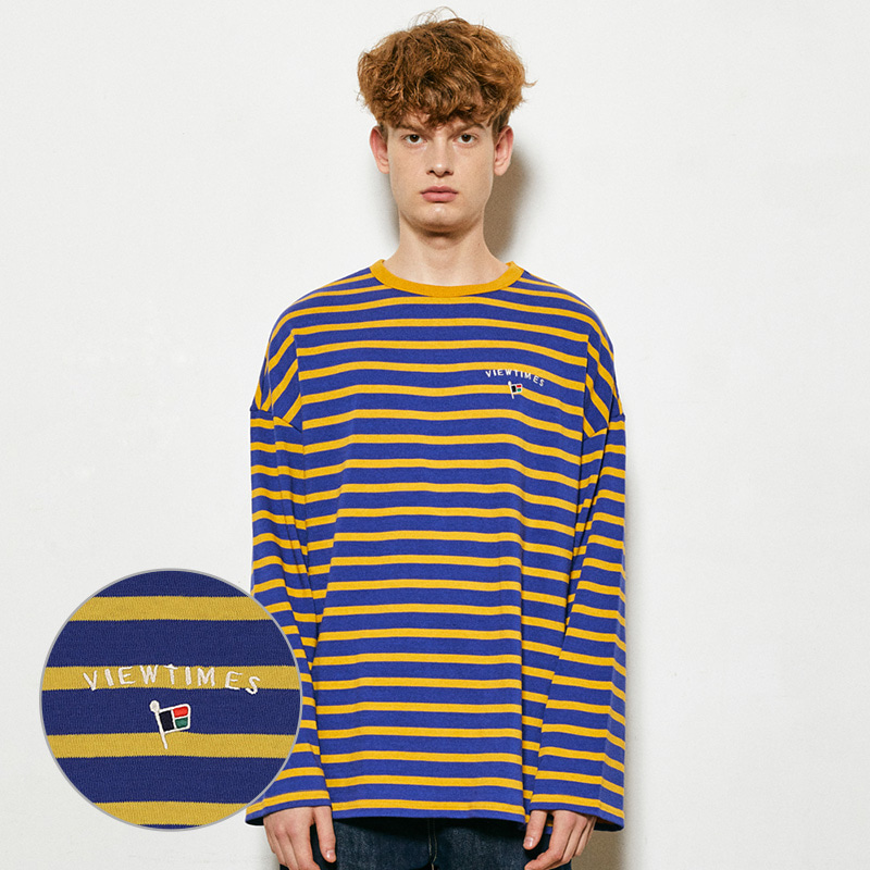 Flag Stripe Long Sleeve (marine blue)