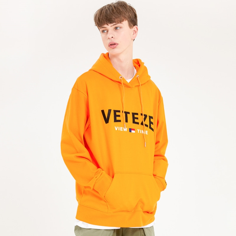 [MID-SEASON]Curve Logo Hood (orange)