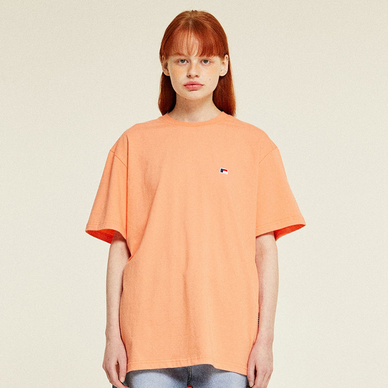 Mini Logo Half T-Shirts (peach)