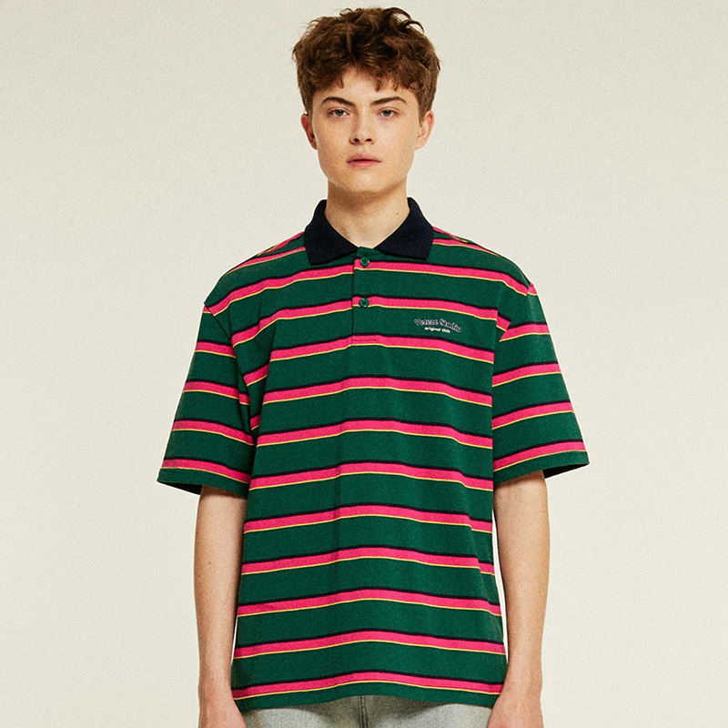 [6월8일 출고예정]Studio PK Stripe T-Shirts (green)