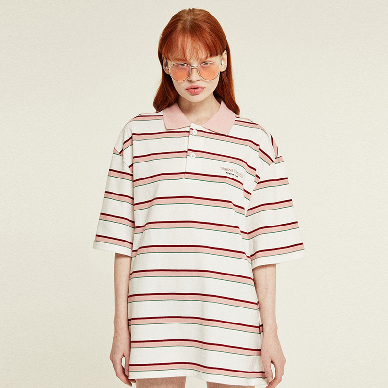 [6월8일 출고예정]Studio PK Stripe T-Shirts (cream)