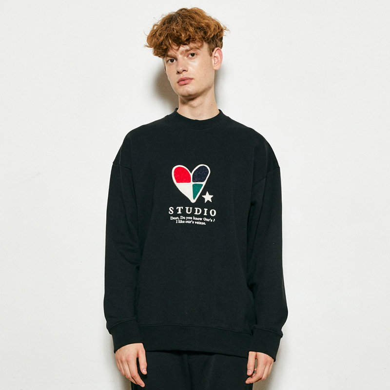 Heart Patchwork MTM  (black)