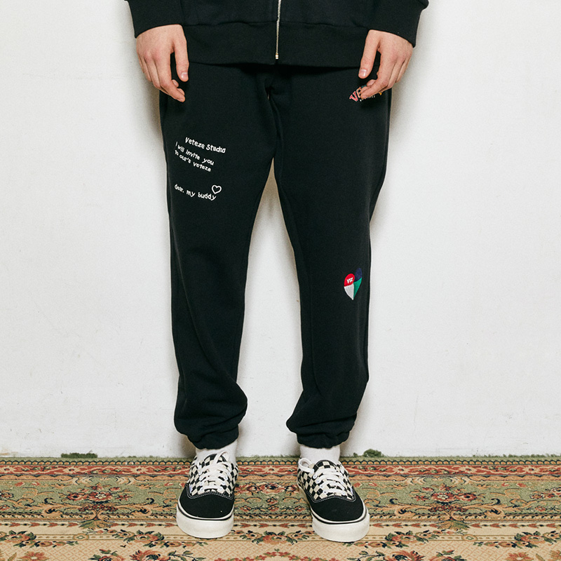 Rainbow Sweat Pants (black)