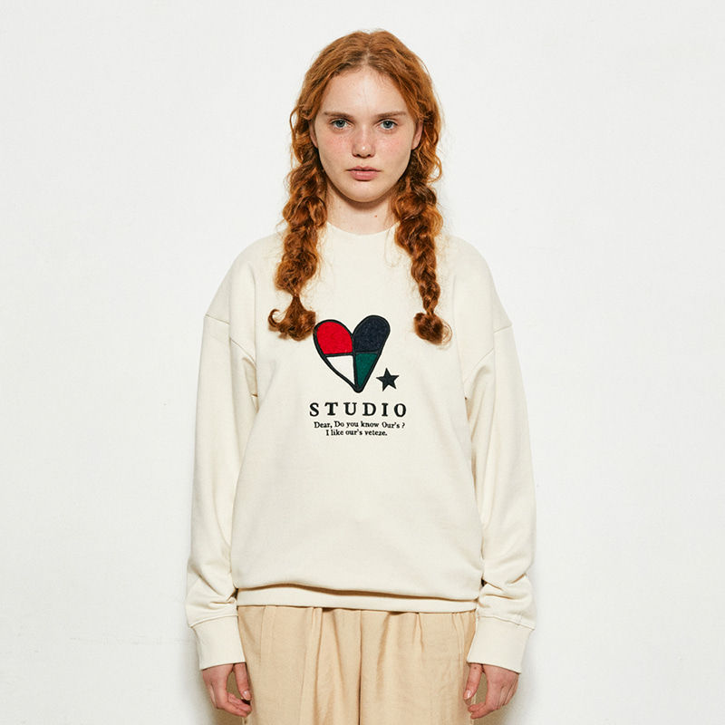 Heart Patchwork MTM  (cream)