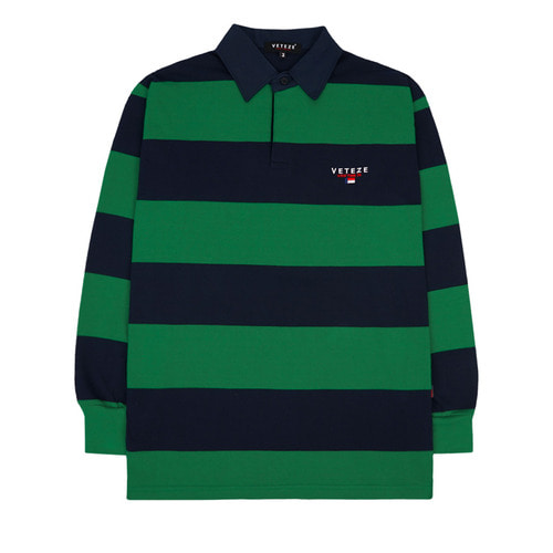 Stripe Rugby T-shirts (green)