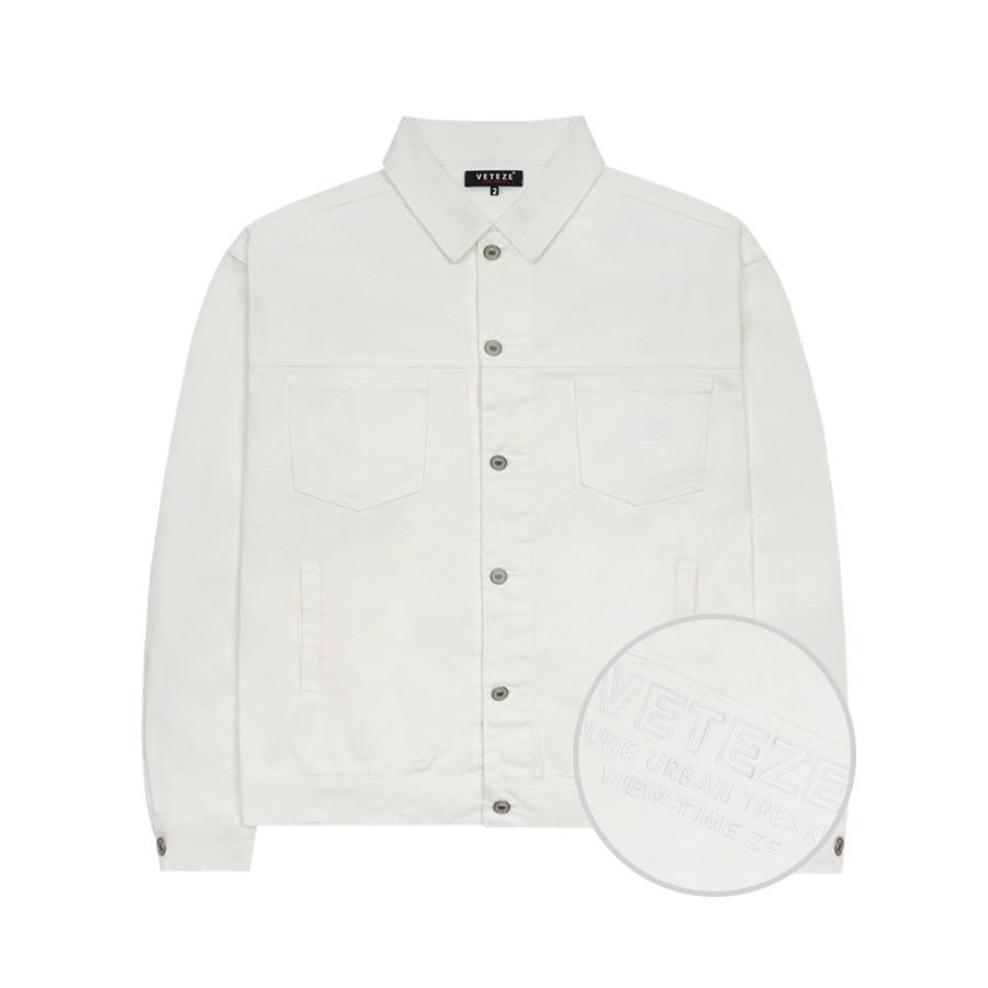 Basic Trucker Jacket (White)