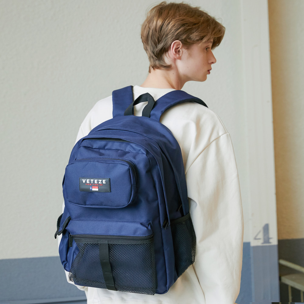 [New Color] Retro Sport Bag (navy)