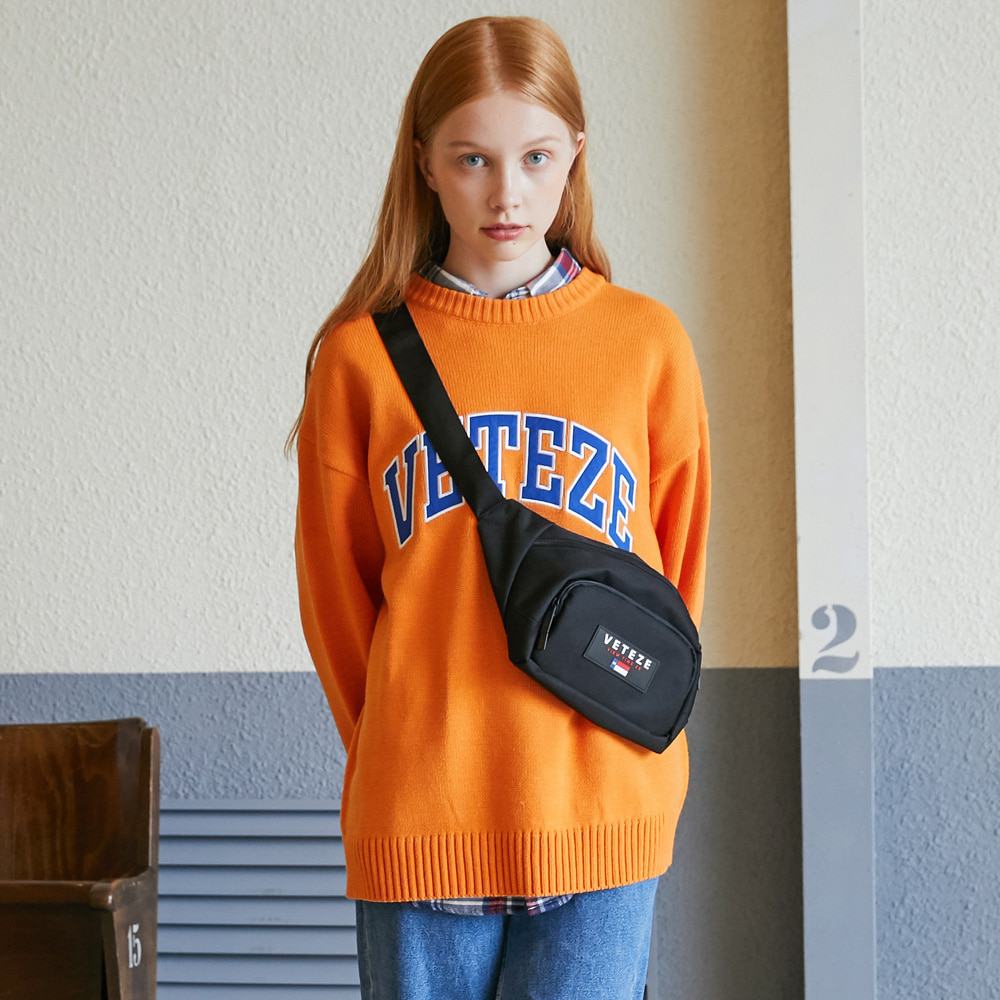 Applique Knit (orange)