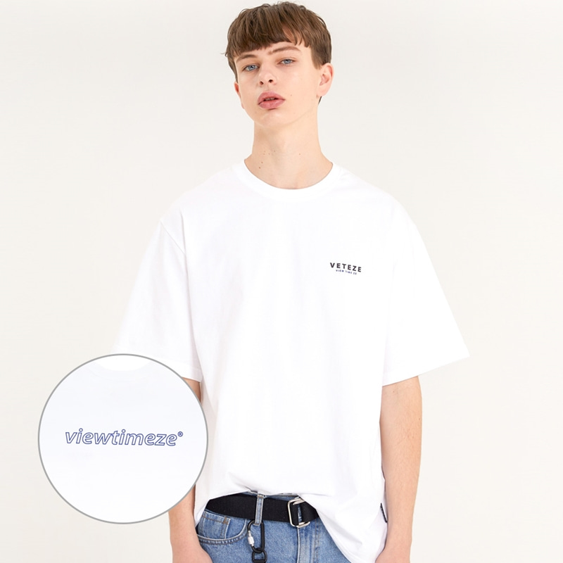 [TIME SALE]Color Logo Half T-Shirts (white)