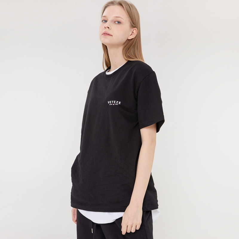 [Season Off] Signature Logo Half T-Shirts (black)