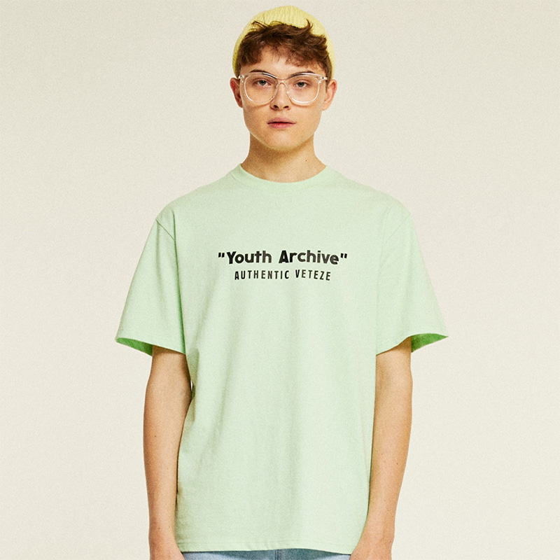 [TIME SALE]Youth Half T-Shirts (lime)