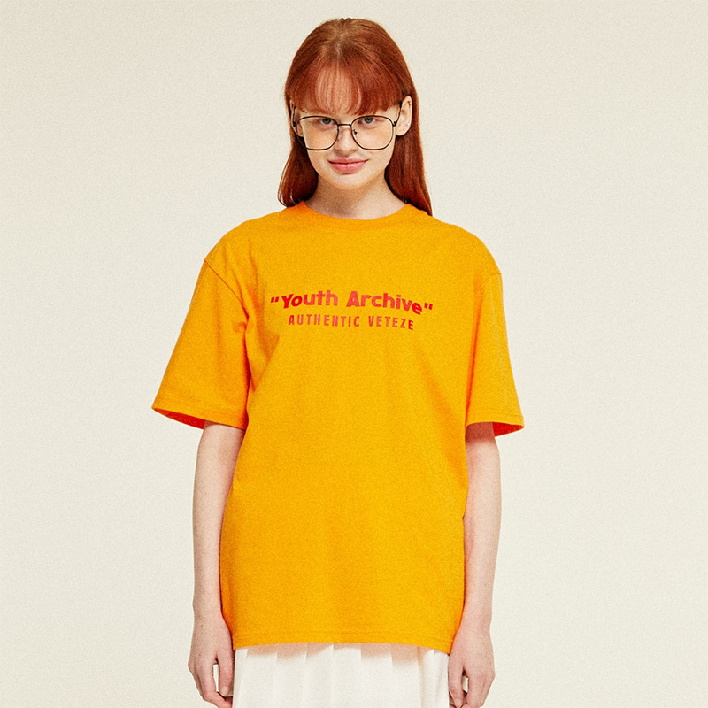 [TIME SALE]Youth Half T-Shirts (orange)