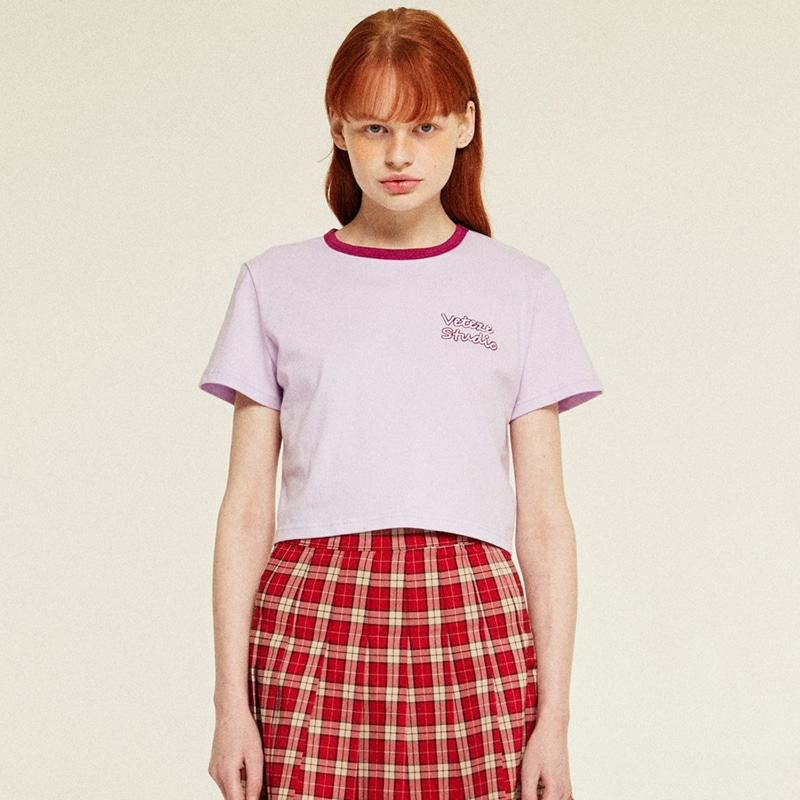 [TIME SALE]Studio Crop T-Shirts (lavender)
