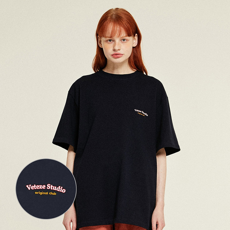 [Season Off] Studio Half T-Shirts (navy)
