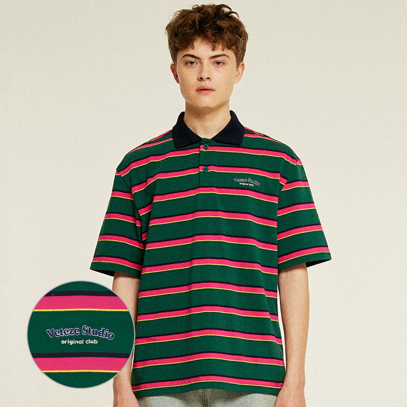 [Season Off] Studio PK Stripe T-Shirts (green)
