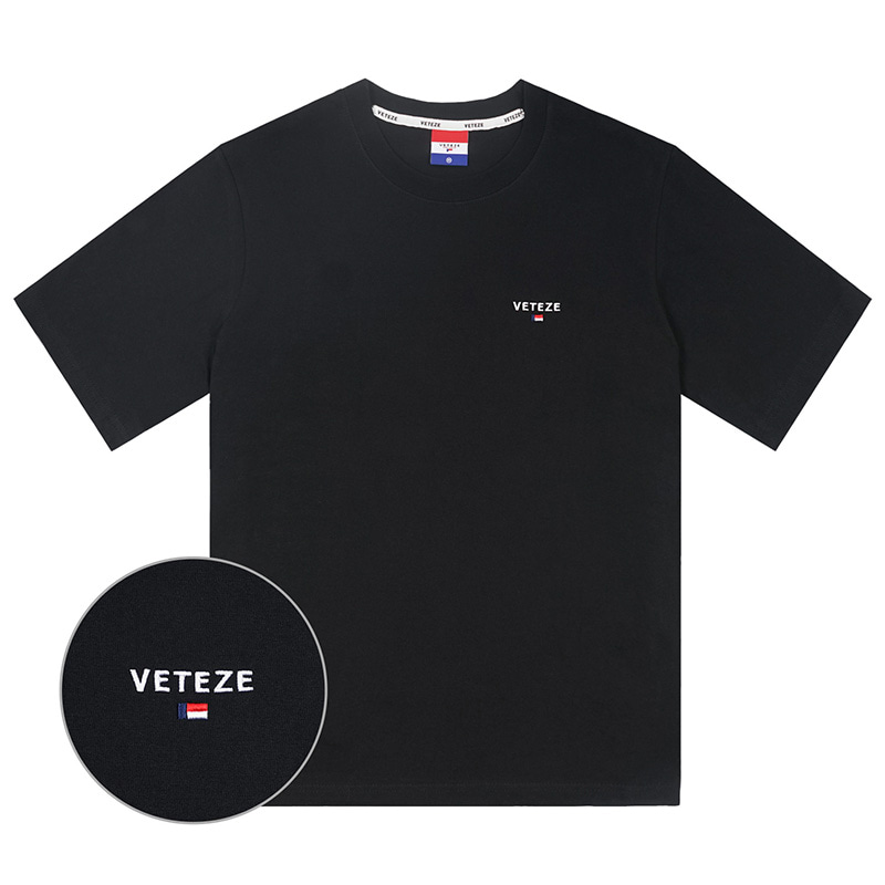 [Season Off] Basic Logo Half T-Shirts (black)