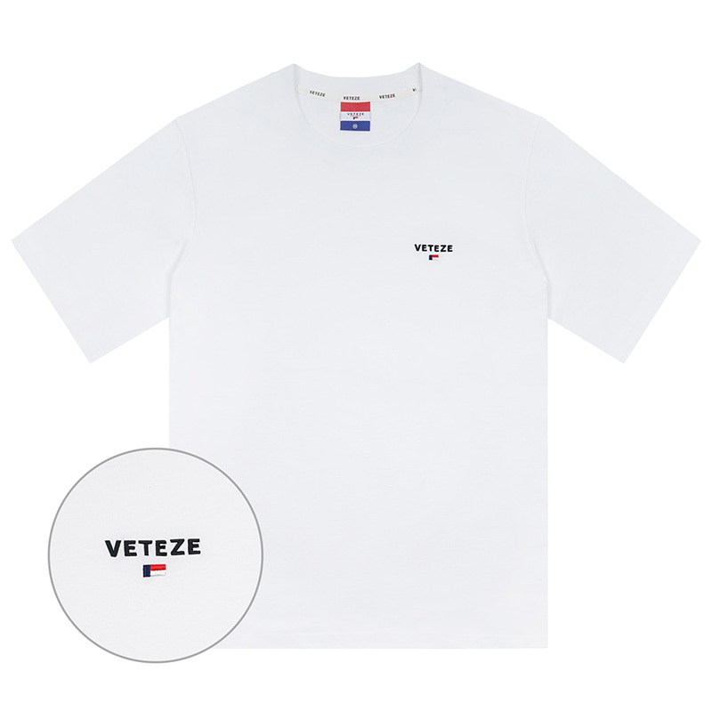 [Season Off] Basic Logo Half T-Shirts (white)