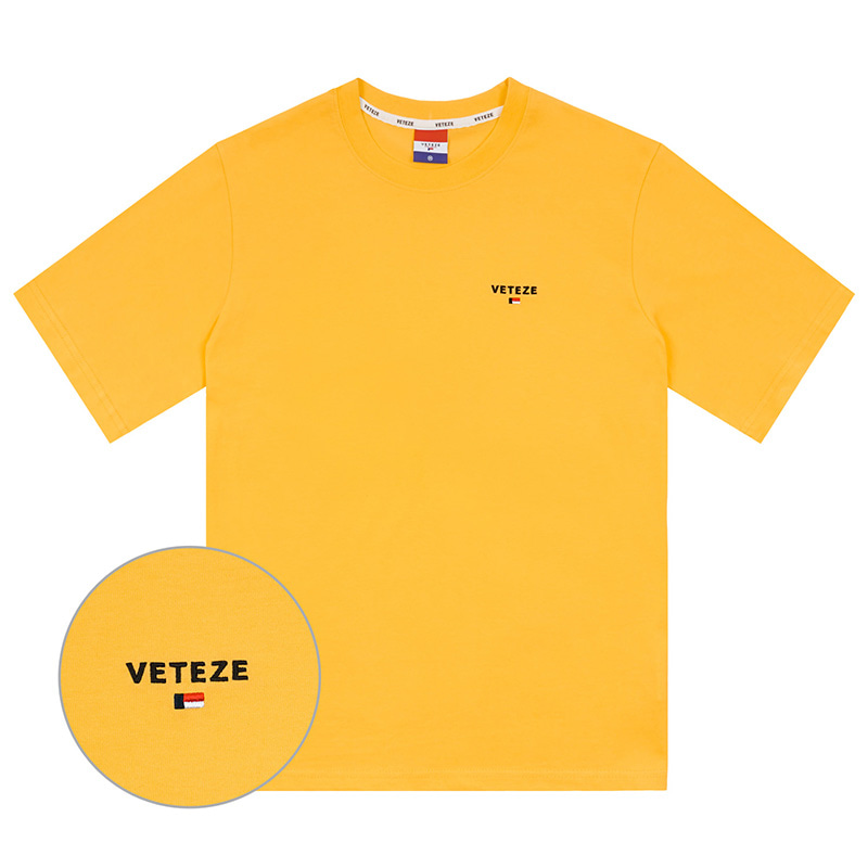 [Season Off] Basic Logo Half T-Shirts (yellow)