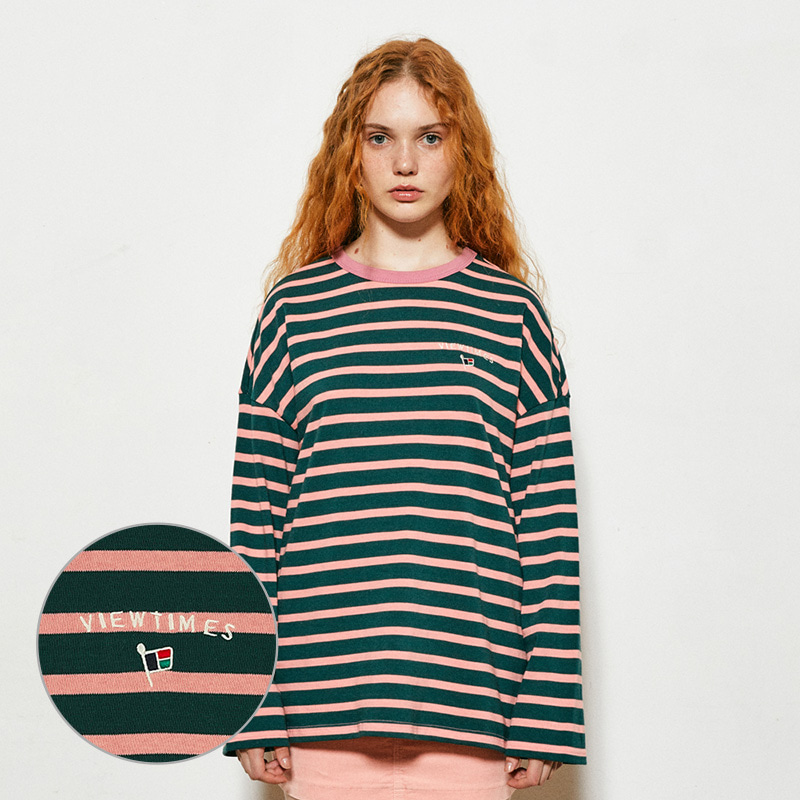 Flag Stripe Long Sleeve (green)