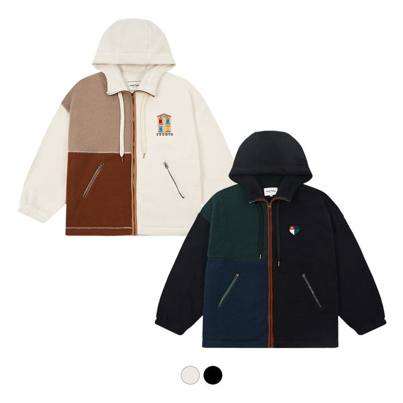 Heart House Fleece Hood Zipup (4종)